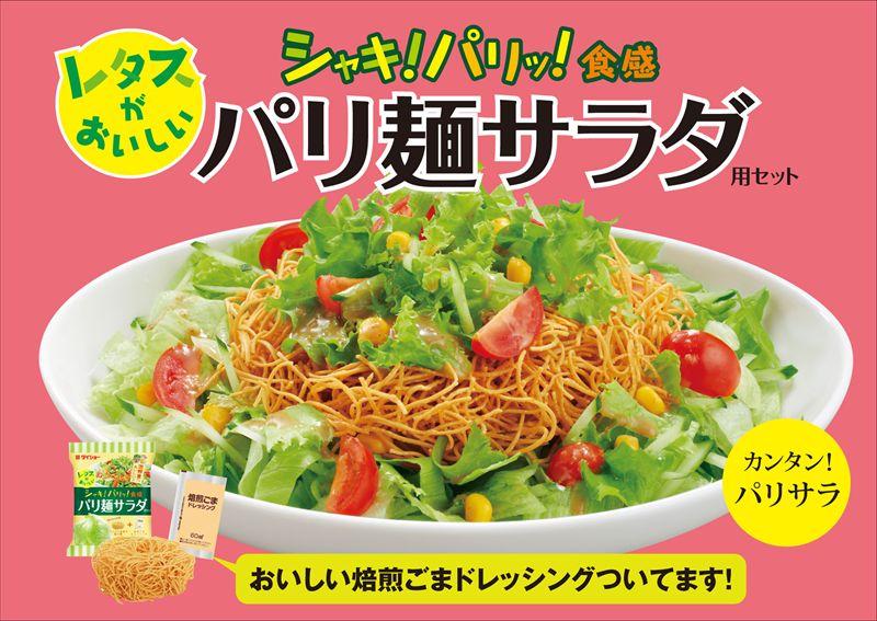 【秋冬限定パッケージ】レタスがおいしい パリ麺サラダ